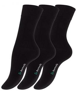 12 Paar Schwarze Damen Bio-Baumwoll Socken aus reiner Bio-Baumwolle