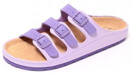 Damen Bio Clogs Tieffußbett Pantolette Sandale Slipper Schuhe LAVENDEL Gr. 37-41 (40)